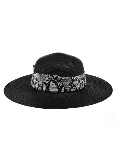 Morhipo Beach Yılan Desen Detaylı Şapka Siyah
